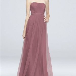David's bridal light purple bridesmaid dress